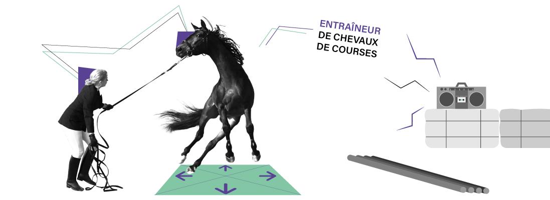 comment travailler dans le monde de equitation - entraineur cehvaux de courses - entrainement - cheval - metier