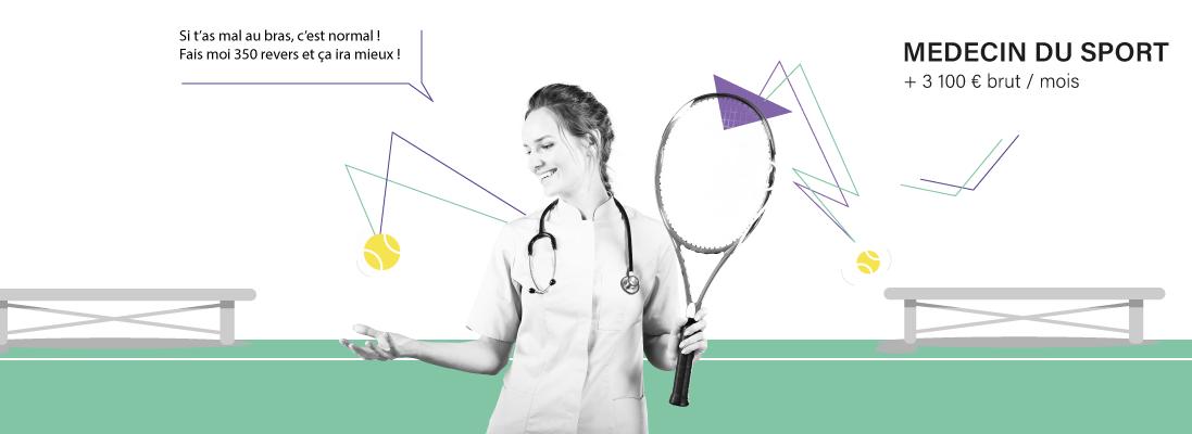 comment travailler dans le monde du tennis - emploi - metier - raquette - balle - sport - tennisman - medecin - preparateur - massage