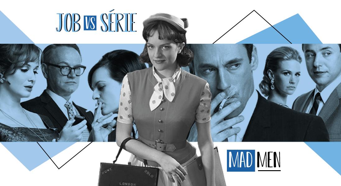 Mad Men est considérée comme un véritable chef d'oeuvre du petit écran.     Son esthétique soignée et son subtil trait d'humour ont peut-être fait chavirer ton coeur. Si ce n'est pas (encore) le cas, voici une piqûre de rappel.     Mad Men, c'est quoi ? Début des 60's, au coeur de Manhattan. Les agences de publicités sont concentrées sur Madison Avenue. Publicitaire de l'agence Sterling Cooper, le talentueux Don Draper se débat pour préserver un équilibre fragile entre vie privée et vie professionnelle.     Une clope dans la main droite, une vodka dans la main gauche, lové dans son divan vintage, son job est d'imaginer des campagnes publicitaires pour de prestigieuses marques. Père distant, mari condescendant, un séducteur charismatique mais aussi un homme fragile. Son ambiguïté, son mystère et ses multiples facettes font de lui le pilier de la série.  Mad Men VS notre société contemporaine En toile de fond de la série, on retrouve une fresque des Etats Unis des sixties.     L'assassinat de JFK, celui de Martin Luther King, la guerre du Vietnam mais aussi Marilyn Monroe, le boom de l'économie et de la consommation de masse, le premier pas sur la Lune, l'émergence de nouveaux médias, et, bien sûr… de la publicité. C'est ici le coeur de la série.     Sa très juste peinture de la société américaine met en lumière une époque où racisme, sexisme et problématiques économiques cohabitent souvent dans les milieux professionnels.     Loin des sphères professionnelles archaïques et discriminantes, certaines de ces problématiques continuent de faire écho dans certains jobs en 2018. Crise économique, dépendance financière des start-ups, #MeToo : nos doutes et angoisses contemporaines ne sont pas toujours si éloignées de celles de cette agence de pub des 60's.     INTERNE_MADMEN-1  Si Mad Men était votre boîte en 2018 ? Le quotidien de cette agence est rythmé par ses notables clients (Kodak, Lucky Strike, Heinz). Son coeur bat grâce à la satisfaction de ses clients, dont elle dé