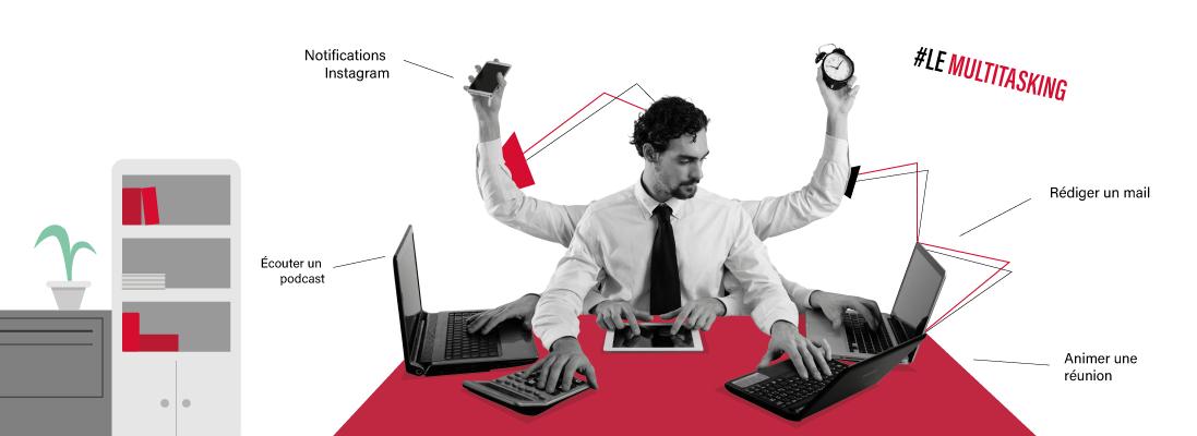 multitasking-millennials-jeune-generation-travail-entreprise-internet-mail-reunion-animer-repondre-notification - portable- multitache- ordinateur -homme- costume- recrutement